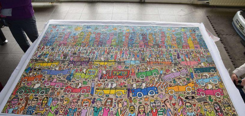 Construction collective d un puzzle de 5000 pi ces on for Custom 5000 piece puzzle