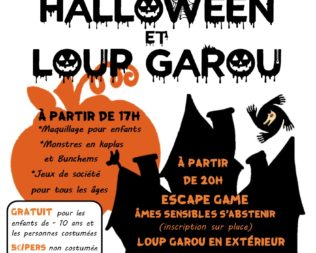 Soirée Halloween et Loup Garou