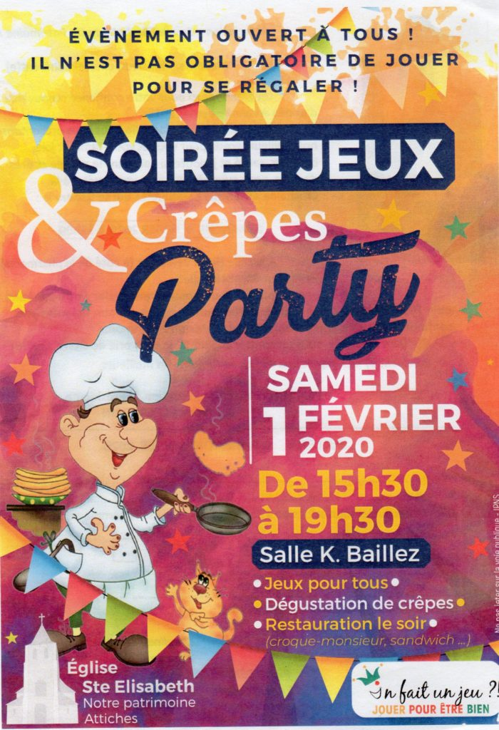 affiche crêpes party